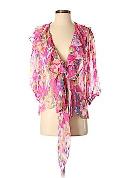 Lauren by Ralph Lauren Long Sleeve Silk Top Size XS