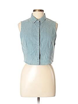 Alice + olivia Sleeveless Button-Down Shirt Size 10