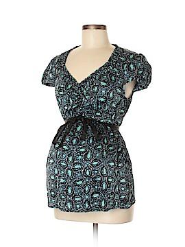 Mimi Maternity Short Sleeve Silk Top Size M (Maternity)