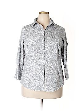 Coldwater Creek 3/4 Sleeve Button-Down Shirt Size 2X (Plus)