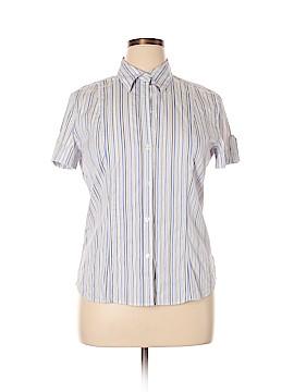 New Balance Short Sleeve Button-Down Shirt Size XL