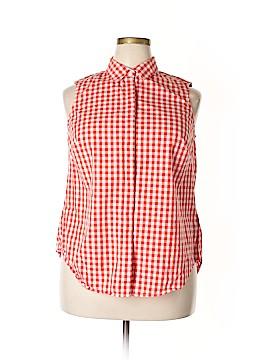 Zac & Rachel Sleeveless Button-Down Shirt Size 1X (Plus)