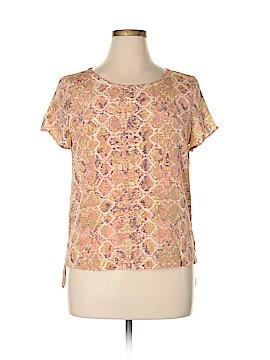 Fynn & Rose Short Sleeve Silk Top Size L