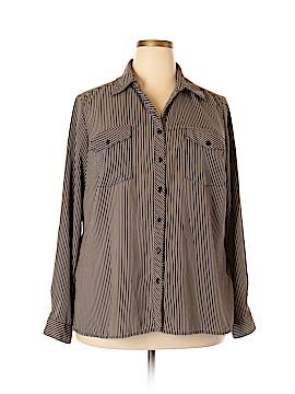 Notations Long Sleeve Button-Down Shirt Size 2X (Plus)