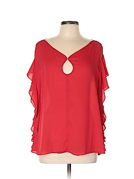 Max Studio Short Sleeve Blouse Size XL