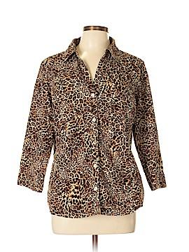 Jones New York Signature 3/4 Sleeve Button-Down Shirt Size XL