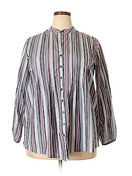 Denim 24/7 Long Sleeve Button-Down Shirt Size 16