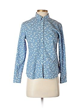 Boden Long Sleeve Button-Down Shirt Size 4 (Petite)