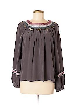 Ya Long Sleeve Silk Top Size M