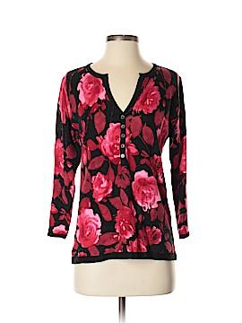 Cathy Daniels 3/4 Sleeve Henley Size S