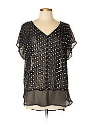 Bobeau Women Short Sleeve Blouse Size XL