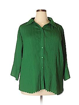 Rene Margo Long Sleeve Blouse Size 3X (Plus)