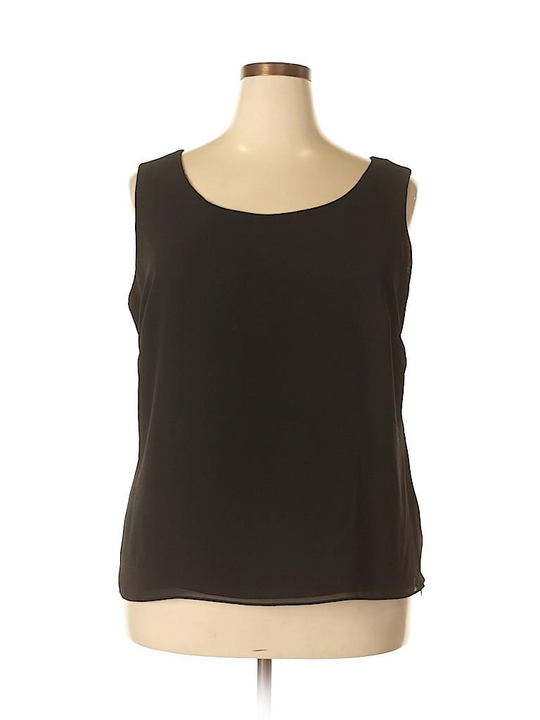 Studio I Women Sleeveless Blouse Size 18 (Plus)
