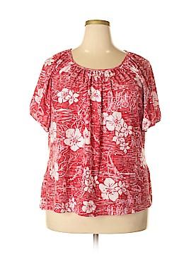 Cathy Daniels Short Sleeve Top Size 2X (Plus)