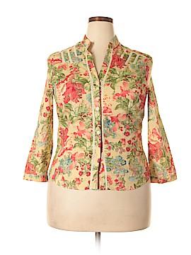 Bandolino 3/4 Sleeve Button-Down Shirt Size XL