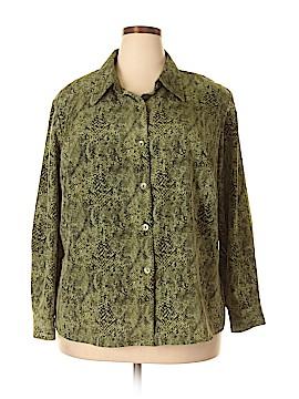 Susan Graver Long Sleeve Blouse Size 1X (Plus)