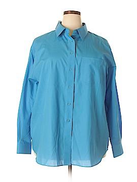 Foxcroft Long Sleeve Button-Down Shirt Size 20 (Plus)