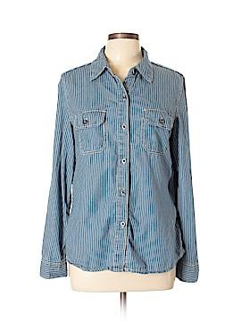 Seven7 Long Sleeve Button-Down Shirt Size L