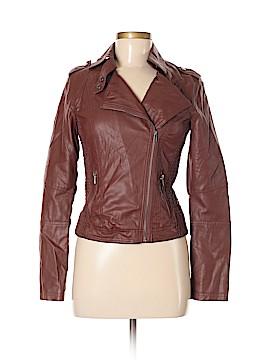 Celebrity Pink Faux Leather Jacket Size S