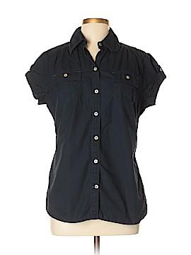 Converse One Star Short Sleeve Button-Down Shirt Size L