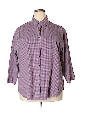 Genuine Sonoma Jean Company 3/4 Sleeve Button-Down Shirt Size 1X (Plus)