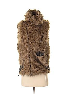 Lucca Couture Faux Fur Vest Size XS