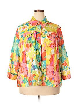 Ruby Rd. 3/4 Sleeve Button-Down Shirt Size 2X (Plus)