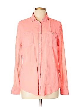 Stylus Long Sleeve Button-Down Shirt Size L
