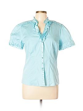 DressBarn Short Sleeve Button-Down Shirt Size L