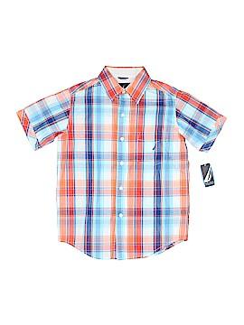Nautica Short Sleeve Button-Down Shirt Size 8