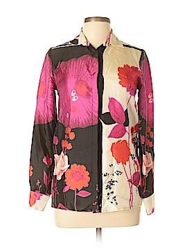 Les Copains Long Sleeve Silk Top Size M