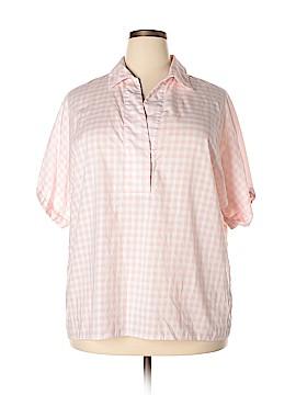 Lafayette 148 New York Short Sleeve Button-Down Shirt Size XXL