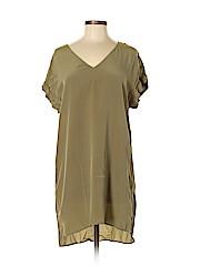 Lavender Brown Short Sleeve Silk Top
