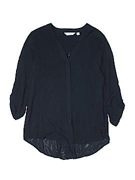 Great Northwest Indigo 3/4 Sleeve Button-Down Shirt Size XL