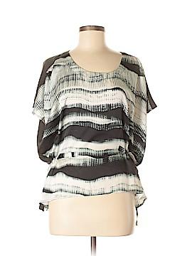 Line & Dot Short Sleeve Blouse Size S