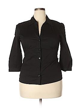 AB Studio Long Sleeve Button-Down Shirt Size XL