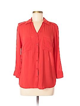 A.n.a. A New Approach 3/4 Sleeve Button-Down Shirt Size M