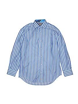 Thomas Dean Long Sleeve Button-Down Shirt Size 10-12