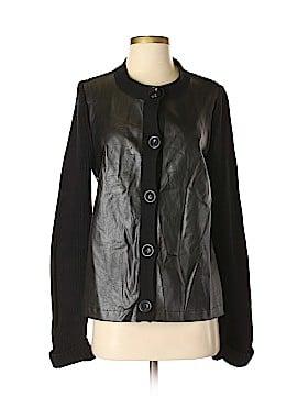 Jones New York Signature Faux Leather Jacket Size S
