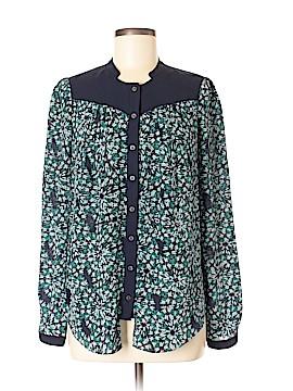 Moulinette Soeurs Long Sleeve Silk Top Size 6