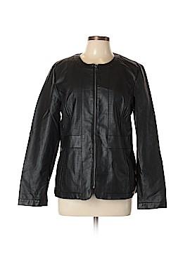 Dana Buchman Faux Leather Jacket Size L