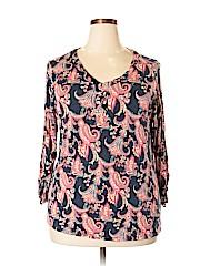 DressBarn Women Long Sleeve Top Size 2X (Plus)
