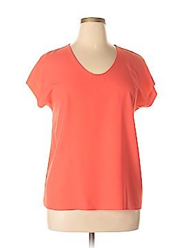 Diane von Furstenberg Short Sleeve Blouse Size L