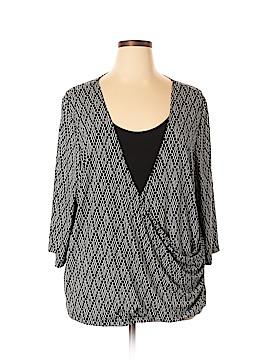 Maggie Barnes 3/4 Sleeve Top Size 2X (Plus)