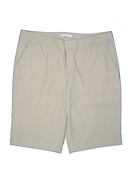 Liz Claiborne Khaki Shorts Size 18 (Plus)