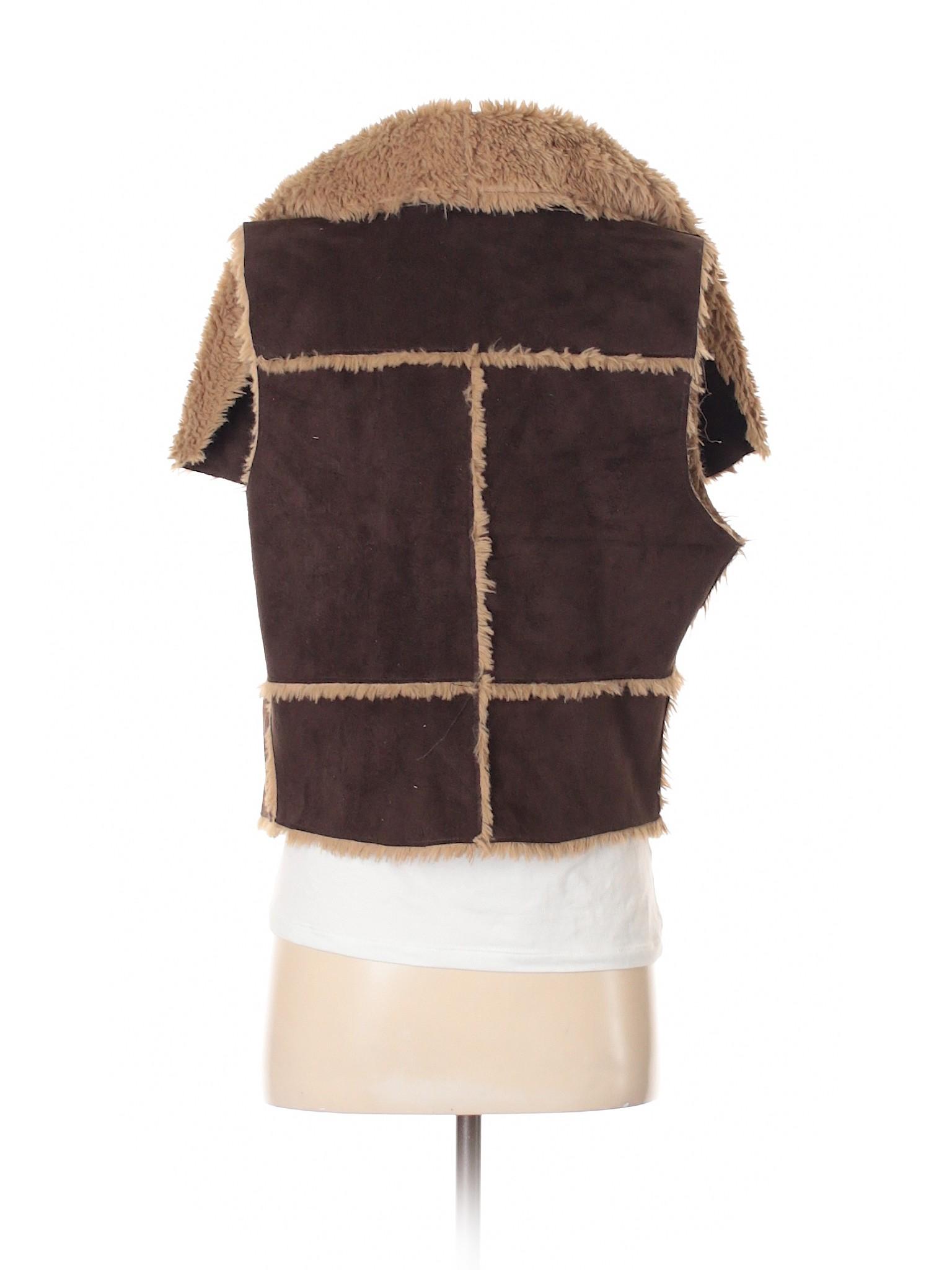 Boutique Olive Fur and Vest Oak Faux q6FZ8qg