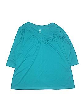 Jennifer Lauren 3/4 Sleeve T-Shirt Size 2X (Plus)