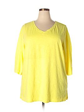 Catherines 3/4 Sleeve T-Shirt Size 3X (Plus)
