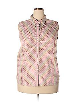 Venezia Sleeveless Button-Down Shirt Size 22 - 24 Plus (Plus)