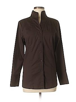 Soft Surroundings Long Sleeve Button-Down Shirt Size M